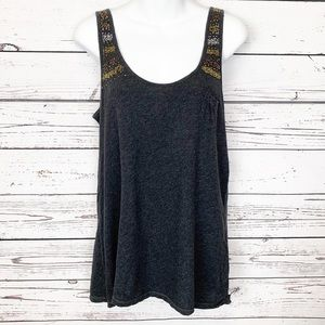 AMERICAN EAGLE OUTFITTERS gray beaded tank top